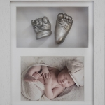 baby hand casting with photo