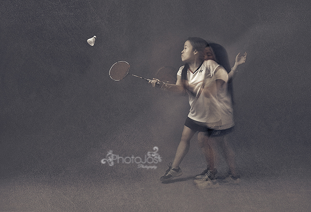 Rachel Choong badminton champion in the Photojs Photography studio