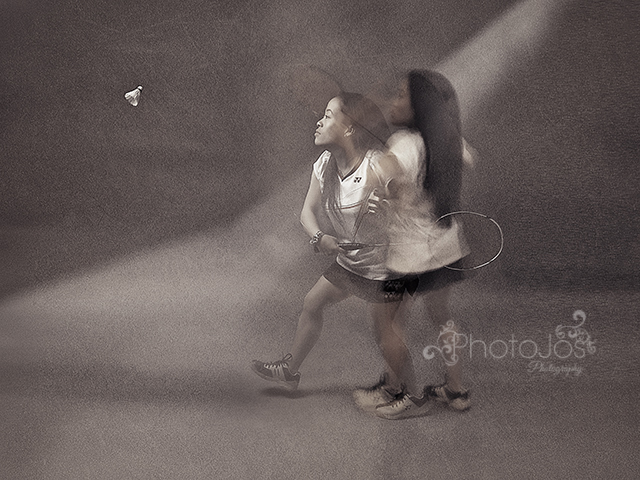 Photographing Rachel Choong playing badminton was a real highlight