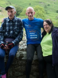Steve Cliff (centre) and his wife Wynn - organisers of the Anniversary Waltz Fell Race