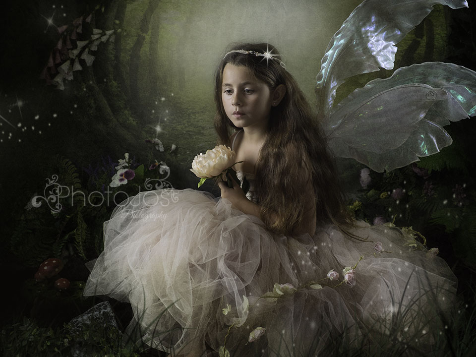 Fairy in an enchanted adventure photoshoot