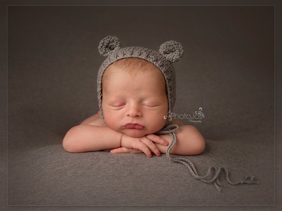 Newborn baby photographed by Photojos Photography